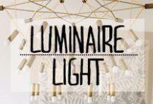 Luminaire - Light / #lumiere #light #luminaire #lampe #ampoule #lustre #chevet #bureau #liseuse #suspension #applique #spot #guirlande #décoration #deco #inspiration #domus #idées