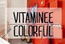 Vitaminée - Colorful / #vitaminee #couleur #colors #colore #teinte #nuance #ton #pigment #grain #décoration #deco #inspiration #domus #idées