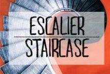 Escalier - Staircase / #escalier #stairs #glissant #steps #marche #cageescalier #colimacon #descente #montee #décoration #deco #inspiration #domus #idées