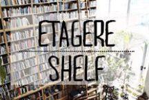 Étagère - Shelf / #shelf #etagere #shelves #livre #bouquin #decoration #planche #mur #décoration #deco #inspiration #domus #idées