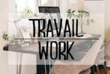 Espace de Travail - Work Space / #office #bureau #travail #work #pupitre #serieux #ordinateur #décoration #deco #inspiration #domus #idées
