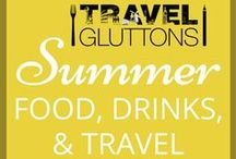 """Summer Food, Drinks, & Travel / The sun is shining and the weather is sweet. Here are our favourite food and travel pins that scream """"summer""""."""