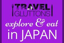 """Explore & Eat in Japan / The """"country of the rising sun"""" is different, beautiful and very, very weird (in a good way!). We show you here some of the best places to see and food to try in Japan."""