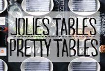 Jolies Tables - Pretty Tables / Pour recevoir comme il se doit. #décoration #deco #inspiration #domus #idées