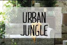 Urban jungle / Quand la jungle apparaît sur les éléments de décoration. #urban #jungle #motifs #feuillage #verdure #green #décoration #deco #inspiration #domus #idées