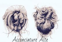"ACCONCIATURE ALTE / Pettinature alte "" chignon, crocchie, cipolle """