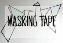 Masking Tape / #maskingtape #tape #scotch #dessin #diy #fait main #décoration #deco #inspiration #domus #idées
