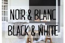 Noir & Blanc - Black & White / #noir #blanc #n&b #black #white #b&w #bw #sobre #monochrome #décoration #deco #inspiration #domus