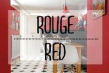 Rouge - Red / #rouge #red #love #romantique #décoration #deco #inspiration #domus