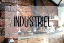 Industriel / #déco #industriel #inspiration #fer #forgé #metal #bois #rustique #industrial #usine #brut