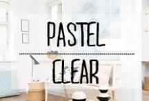 Pastel - Clear / #pastel #clair #sobre #rose #blanc #bleu #clair #lumineux #décoration #deco #inspiration #domus