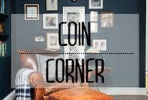 Coin lecture - Reading corner / #coin #corner #fauteuil #sofa #comfy #confortable #cosy #cuir #coussin #couverture #décoration #deco #inspiration #domus