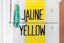 Jaune - Yellow / #jaune #yellow #color #couleur #décoration #deco #inspiration #domus #idées