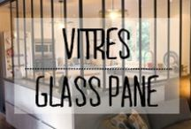 Vitres intérieures - Glass pane / #vitres #vitraux #verriere #industriel #glass #pane #window #panneau #décoration #deco #inspiration #domus #idées