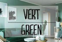 Vert - Green green super green / #vert #green #couleur #touche #associations #décoration #deco #inspiration #domus #idées