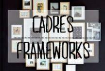 Cadres - Frameworks / #cadre #cadres #framework #pictures #organisation #mur #décoration #deco #inspiration #domus #idées