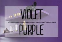 Violet - Purple / #violet #pourpre #mauve #purple #couleur #touches #color #décoration #deco #inspiration #domus #idées