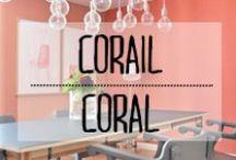 Corail - Coral / #corail #coral #orange #été #summer #touche #color #couleur #décoration #deco #inspiration #domus #idées