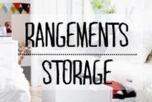 Rangements - Storage / #rangements #storage #boites #etageres #deco #decoration #inspiration #idées #domus