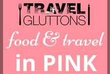 Food & Travel in Pink / Ah...pink, such a lovely colour. And here is a board full of travel and food that has been inspired by the colour pink.