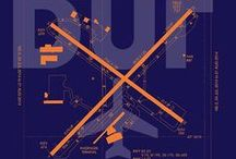 U.S. Airport Diagram Posters - YHM Designs / Featuring my U.S. Airport Diagrams (and airport codes) on Red Bubble (www.redbubble.com/people/yhmdesigns). Ideal decor for home and office for the airport, aviation or travel enthusiast.