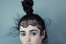 // Cool catwalk hair //