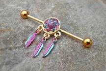 Opal body Jewelry / Belly rings, industrial barbells, septum, Nipple rings, earrings