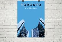 Toronto Posters / Posters highlighting popular Toronto, Ontario landmarks to pay tribute to the Big Smoke. Museum-quality, printed on archival, acid-free paper.