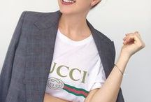 Gucci Lovers / Outfits with Guuci T-shirts, dowble G belts, loafers, mules