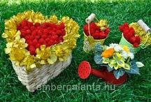 Virágkötészet gyerekekkel/      flower arrangements for kids