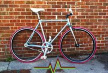 Custom Bicycles / Examples of our custom built single-speed and fixed gear bikes.  We specialize in building high quality urban bicycles from vintage and modern materials.