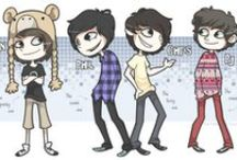 The Fantastic Foursome <3 / Dan, Phil, Chris and PJ. Danisnotonfire, AmazingPhil, Crabstickz and KickthePj