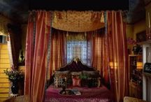 I ❤ bedrooms  / Canopy and bohemian bedrooms