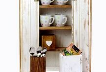Wooden Shabby Chic Kitchen Storage Cabinet / Gorgeously made #wooden #shabbychic #storagebox, made totally by hand using reclaimed pallet wood. Available at Defacto4 £35.99.