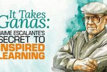 TBS Book: It Takes Ganas: Jaime Escalante's Secret to Inspired Learning / Wisdom on teaching and inspiring student from acclaimed math teacher Jaime Escalante, subject of the film _Stand & Deliver_.