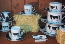 "My  'french farm"" dinnerware / hand painted Porcelain (patricia deroubaix)"