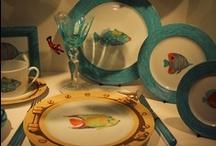 My  blue sea dinnerware / hand painted/ copyright edition