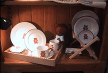 My teddy bear porcelain collection / hand painted baby dinnerware and birth presents