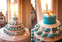 Beach Themed Wedding Cakes, Cupcakes, Confections / Luscious and beautiful wedding confection ideas ~ from cakes ~ cupcakes ~ and assorted inspiring beach wedding confections!