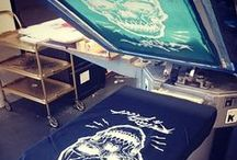 ◆ RTF SCREEN-PRINTING ◆ / Some shots of my work in the studio.