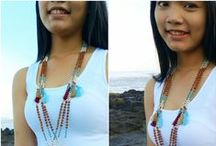Tassels Necklaces My Design / all about my design in tassels necklaces with beads handmade ethnic unique design, new designs best seller necklace tassel made in by bcbali.com