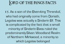 flashcards of Middle earth / facts on things you might not know
