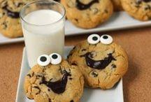 "Birthday Theme: ""1"" cookies and milk"
