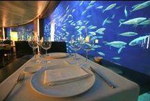 Interior Rte. Submarino / Fotos del interior del Restaurante Submarino del Oceanogràfic de Valencia. Un paseo por las mesas, el acuario que las rodea y sus cubiertas. www.restaurantesubmarino.es