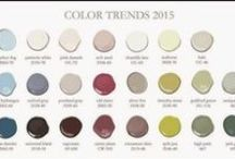 Colors of the Year 2015 / Colors of the Year by all the major paint manufacturers, and how to incorporate them into your life!