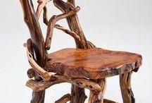 troncs / Mobles fets amb rolls i branques