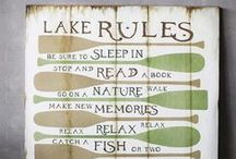 Lake Life and Coastal Decor / Life at a Lake...the best lifestyle to have! :)