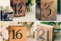 DIY wedding decor / DIY wedding and bridal decor