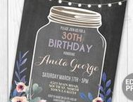 Adult Birthday Invitations / Instant Downloadable & Editable Birthday Invites  https://www.etsy.com/uk/shop/wowwowmeow/items?section_id=16997970