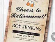 Retirement Party Invites / Instant downloadable & editable invites  https://www.etsy.com/uk/shop/wowwowmeow?ref=hdr_shop_menu&section_id=18875764